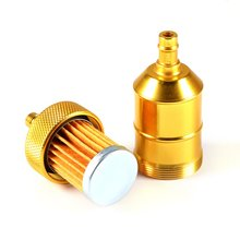 "Yellow Color Universal 6MM 1/4"" Petrol Gas Fuel Filter Cleaner For Motorcycle Pit Dirt Bike ATV 2016"