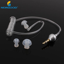 Universal Earphones 3.5mm In-Ear Anti-radiation Earphone Air Tube Mono Stereo Earbuds Noise Cancelling For MP3 MP4 Smart Phone(China)