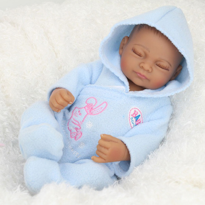 11 Kids Gifts Collections Model Toys Soft Vinyl Silicone Lifelike Newborn Baby Model With The Blue   Detachable Clothing About <br><br>Aliexpress