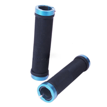 Good deal Pair Mountain Bike MTB BMX Bicycle Cycling Double Lock Handlebar Grips Blue(China)