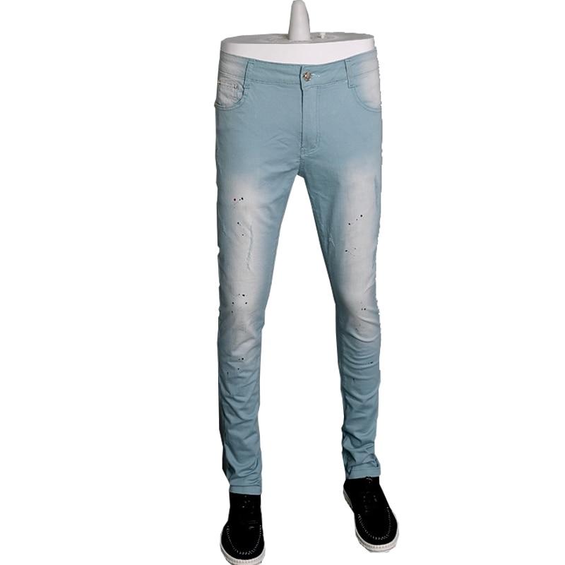 2016 skinny men jeans pants white color denim cotton trousers pantalon homme 3 colors 28-36 CYG154Одежда и ак�е��уары<br><br><br>Aliexpress