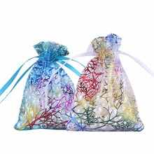 50Pcs Organza Bag Favors Wedding Gifts For Guests Candy Jewellery Packaging Christmas Gift Box Pouches Event Party Supplies(China)