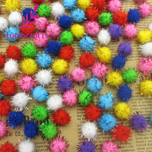 Lucia Crafts 144pcs approx 10mm Chenille Stems Bendaroos Christmas Plush Ball Hair Root Diy Children Toys Wholesale 22010001(China)