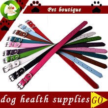 10pcs/lot Pet Dog Health Supplies Wholesale Pu Leather Dog Collar Mixed Colors Random Collars For Dogs(China)
