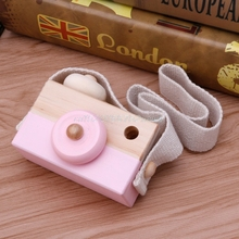 cute kids boy girl toy camera wood decoration creative camera photo
