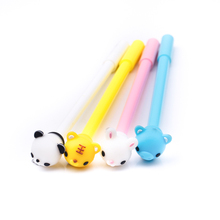 TOMTOSH Cartoon Animals Gel Ink Cute Small Animal Stylus Student Black Water Pen Pen Office & School Supplies(China)