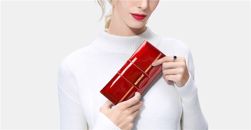 HTB1Ve86hxPI8KJjSspoq6x6MFXaM - BETH CAT 2018 New Fashion Genuine Leather Women Wallet Female Hasp Purse Long Coin Purses Ladies Wallets Cowhide Red