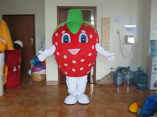 red strawberry mascot costume Mascot Costume Fancy dress Cartoon Costumes Halloween Costumes