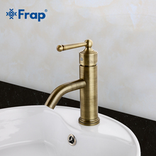 Frap European Vintage bronze Bathroom Basin Faucet Antique Brass Waterfall tap Single Handle Sink Mixer Tap Torneir F1052-11(China)