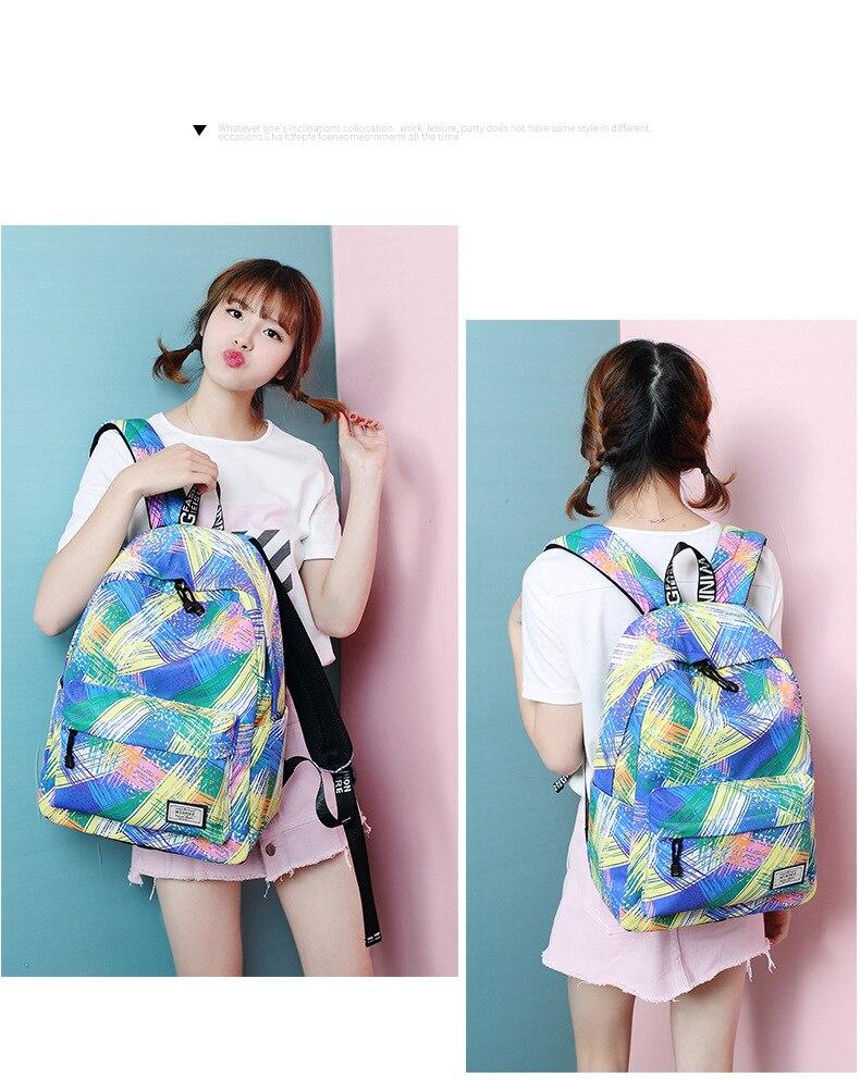 Printing Bag Women Backpack Waterproof Fashion Personality School WwqgYcRZ