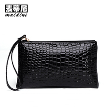 Women Clutch Bag PU Leather Ladies Wristlet Handbags Crocodile Pattern Bags 2017 Fashion Casual Mobile Phone Female Evening Bag