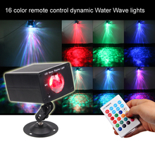 aobolighting 16 Color New IR Remote LED Water Wave Ripple Effect Stage Lighting wireless Projector Disco DJ Party Bar KTV Show