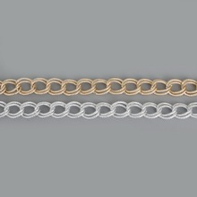 Fashion 1m /lot Plated Silver/Light Gold Link-Opened Curb Twist Aluminum Chains For Necklace Bracelet DIY Jewelry Findings&Craft(China)