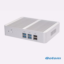Free shipping Latest Celeron N3150 Quad core Fanless X86 Mini pc Qotom-M150S Dual RJ45 Home router computer server(China)