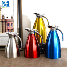 1.0L/1.5L/2L Stainless Steel Vacuum Thermos Pot Insulated Carafe 4 Colors Household Thermos Vacuum Flask Hot Water Kettle