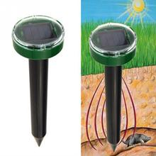 New 2017 Useful Solar Power Eco-Friendly Ultrasonic Gopher Mole Snake Mouse Pest Reject Repeller Control for Garden & Yard