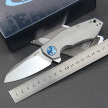 ZeroTelerance ZT Flipper 0456 Folding Knife titanium handle Ball Bearing hunting camp Pocket Survival EDC Tool 204P blade knives