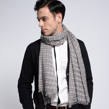 Lady New Arrival Pashmina Men's and Women's General Pure Wool Woven Scarf Classical Wave Point Printed Scarf 180*70cm B-5789(China)
