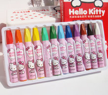 Free shipping Hello Kitty colorful crayons non-toxic oil painting stick girl painting cute Oil Pastel Oil Pastel(China)