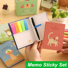 Cute Memo notes Rainbow Hard cover sticky notes Post it stickers paper Stationery Office material school supplies 6774(China)