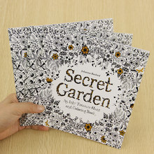 School Office Book Secret Garden 24 Pages Hand Painted Graffiti Coloring Books of the Relieve Stress Painting Book