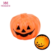 Halloween Decorative Supplies Bar Props Color Glowing Pumpkin Ghost Light Child Professional Factory Best price Drop Shipping(China)