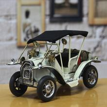 Home Decoration Crafts Figurines Miniatures vintage retro Iron antique car model free shipping