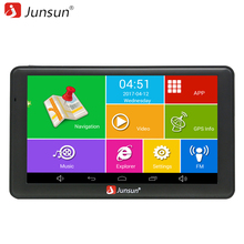 Junsun 7 inch HD Android Car GPS Navigation WIFI Quad-core Truck vehicle gps navigator Automotive Navitel Russia Free Map(China)