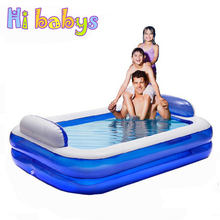 Large ECO-Friendly PVC Pools piscina Baby Inflatable Square Swimming Pool Family Water Swimming pool for adults Swim Trainer