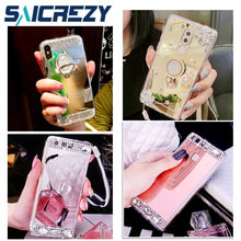 Mirror Crystal case For Huawei P20 Pro case P9 P10 mate 10 9 honor 9 lite  7a P Smart Phone Ring cover honor 6X 7X 8 pro view 10 35ea3983e4e3