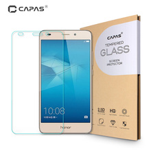 for Huawei Honor 5C Tempered Glass for Honor 7 Lite Screen Protector Original CAPAS Oleophobic Coating Protective Film LCD Guard(China)
