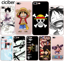 ONE PIECE Phone Case Japanese Anime Luffy Zoro Coque for Apple iphone 7 8 plus 6S X 5 6 5S SE 6PLUS Silicone Soft Clear TPU Capa(China)