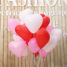12Inches Lovely Heart Balloon Thicken Wedding Valentine's Day Party Latex Balloon Float Air Ball Birthday Engagement Deco 100Pcs