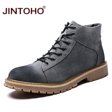 JINTOHO Fashion Winter Shoes Brand Men 겨울 Boots 캐주얼 Work & Safety Ankle Boots 대 한 Men Suede 가죽 남성 Boots 워크 Shoes(China)