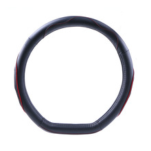 D Ring Genuine leather steering wheel cover/ D Shape for VW GOLF 7 2015 POLO Sagitar Steering Covers Supplier(China)