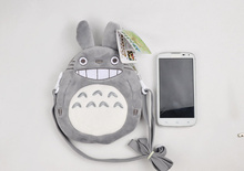 Kawaii Gray Color , my neighbor totoro plush backpack , size 20cm approx. plush backpack Shoulder BAG Pouch Packs