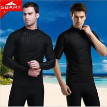 Men Rashguard Swim Shirts Long Sleeve Sunscreen Upf 50 Wetsuit Lycra Top Rash Guard Men Swimwear T-Shirts Sharkskin