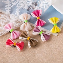 Hot Sale children's hair Sale  bow hair clips, handmade fabric, storage and purchase of wholesale manufacturers