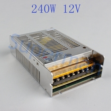power Switching supply Driver T 240W D 12V 20A 240-12 Silver LED Strip light Triple Output AC 110-220V Input AC to DC smps