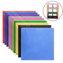 "Hot Colors Small Bricks Baseplates 32*32 Dots Base plate Size 10*10"" DIY Building Blocks Toy Compatible with major brand blocks(China)"