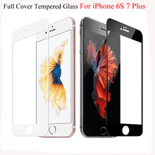 9H Full Cover Tempered Glass For iPhone 6 6S 7 Plus 4.7 5.5 inch 5 5S SE Screen Protector Phone Cases Toughened Protective Film(China)