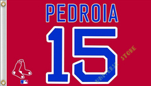 3X5FT Boston Red Sox Flag PEDROIA 15 banner 100D free shipping(China)