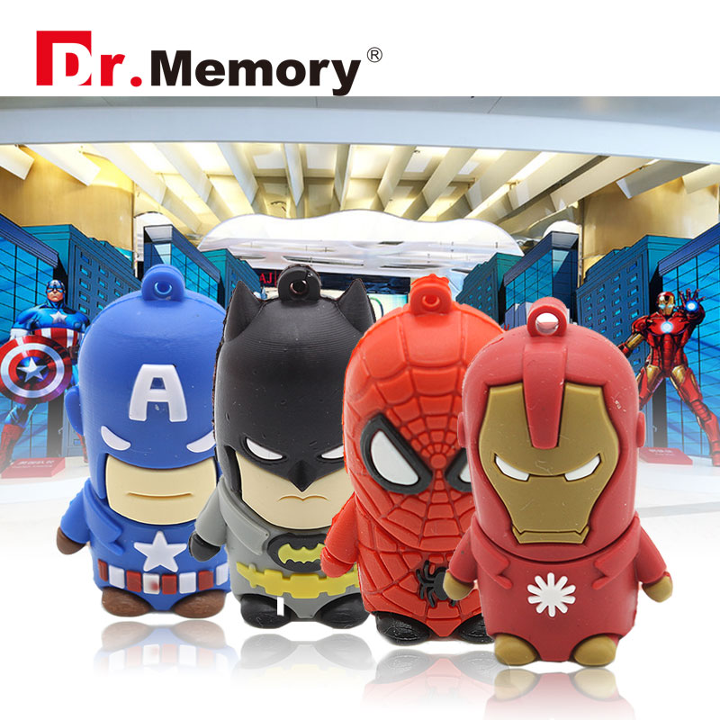 usb flash drive batman USB flash wolverine16G pendrive 8G 4G flash card usb 2.0 64GB USB stick 2016 OEM personal U disk(China)