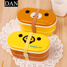 Hot Sale Two Kinds Of Styles Rilakkuma Bento Box 16.5 * 8.5 cm Annimal Styles 300-500ml