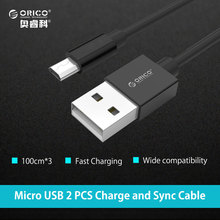 ORICO Micro USB 2.0 5V2A Charging Data Cable Length 100cm 3 pcs for Smartphones 3PCS/LOT for Samsung Xiaomi LG Android Phone