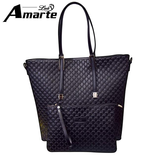 Amarte womens shopper neverfull handbag frail tote bags female designer higher quality leather handbags new brand women tote bag<br><br>Aliexpress