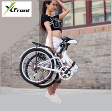 "Original X-Front brand Spring shock absorber 20"" 6 speed carbon steel disc children'e folding bike outdoor bmx bicicleta bicycle"