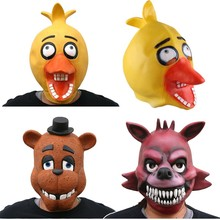 3Styles Quality Adult Five Nights At Freddy's Freddy Chica Foxy Bear Full Latex Mask Latex Figure Toy FNAF Toy(China)