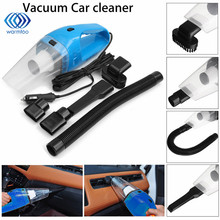 DC12V 120W Super Suction Handheld Cyclonic Car Vehicle Vacuum Cleaner Blue Rechargeable Wet Dry Duster(China)