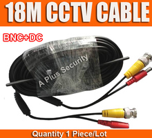 18m CCTV Cable BNC And DC Plug Cable for CCTV Security Camera